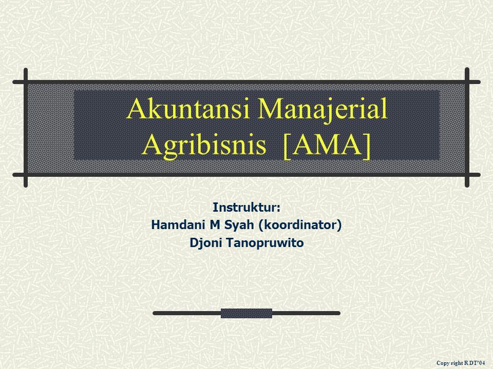 Akuntansi Manajerial Agribisnis [AMA]